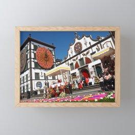 Religious festival in Azores Framed Mini Art Print