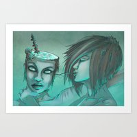 cocktail Art Prints featuring Cocktail by ssst