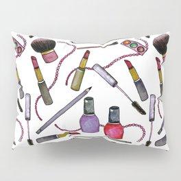 Watercolor Eyes Lips Nails - repeat pattern Pillow Sham