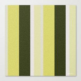 Cactus Garden Stripes 3V Canvas Print