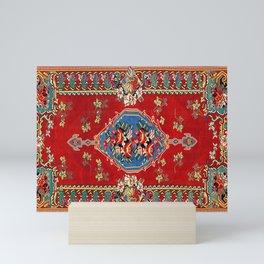 Bijar Silk Kilim  Antique Kurdish Persian Rug Print Mini Art Print