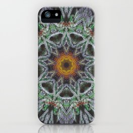 Crystal Feather Leaf iPhone Case