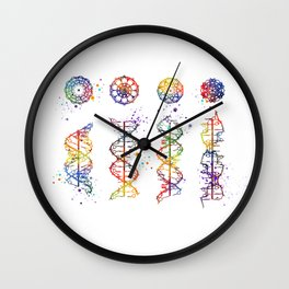 DNA Helix A-B-C-Z Medical Art Prints Genetic Doctor Gift Biology Poster DNA Print Watercolor Print Wall Clock