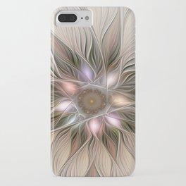 Joyful Flower, Abstract Fractal Art iPhone Case