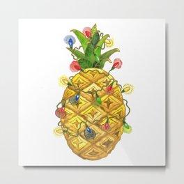 The Christmas Pineapple Metal Print