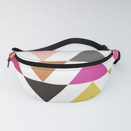 Geometric Triangle Pattern Fanny Pack