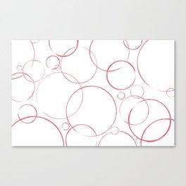 round and round pink Canvas Print
