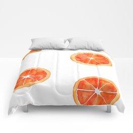 Watercolor Orange Slices Comforters