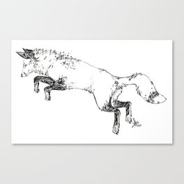 Leaping Fox Canvas Print