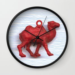 Genetically challenged camel trying to cross the blue mirage Wall Clock