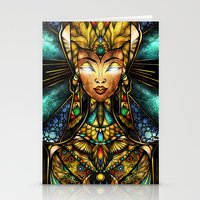 mandie manzano Stationery Cards featuring Nefertiti by Mandie Manzano