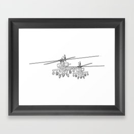 Apache's flying Toon Render Framed Art Print