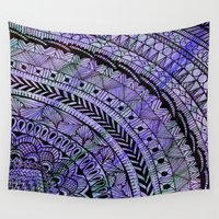 zentangle Wall Tapestries featuring Zentangle by Doodle Frisson
