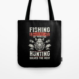 Hunter Hunting fish Tote Bag