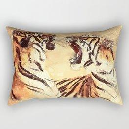 Tigers couple Rectangular Pillow