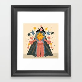 Hold Me Tight So I Can Shine Brighter  Framed Art Print