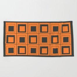 Orange Squares Beach Towel