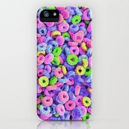 Fruit Loops Cereal Pattern iPhone Case