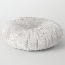 Smooth Concrete Small Rock Holes Light Brush Pattern Gray Textured Pattern Floor Pillow
