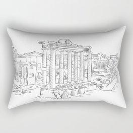 Ancient Rome roman forum Rectangular Pillow