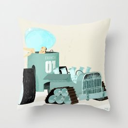 Karen form Chicks & Wheels Throw Pillow