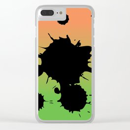 Mango splatter Clear iPhone Case