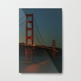 Golden Gate Bridge- San Francisco, CA - Wild Veda Metal Print