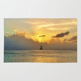 Sailing away to infinity. Rug