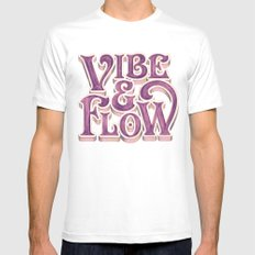 Vibe & Flow White MEDIUM Mens Fitted Tee