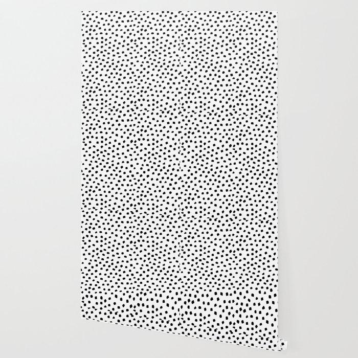 Dalmatian Dots Black White Spots Wallpaper
