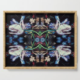 Nocturnal Flowers Serving Tray