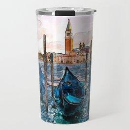 Gondolas in Venice Travel Mug