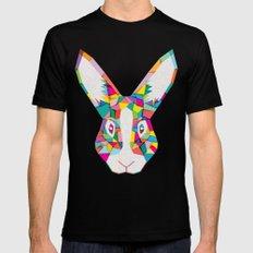 Rainbow Rabbit Black Mens Fitted Tee X-LARGE