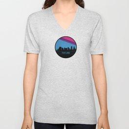 Portland Skyline Unisex V-Neck