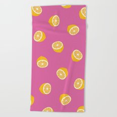 Lemon Pattern Beach Towel