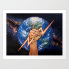 Earth Power (Mural at Battery Land, Gainesville FL Art Print