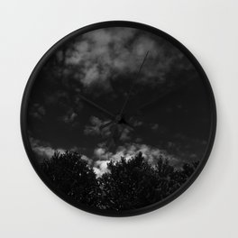 Darkly Clouded Wall Clock