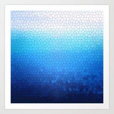 blue sparkle Art Print