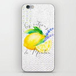 Les Citrons de Menton—Lemons from Menton, Côte d'Azur iPhone Skin