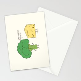Broccoli and cheese Stationery Cards