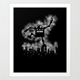 Robo Smash Art Print