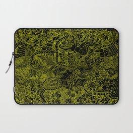 Black and Yellow Underbrush Laptop Sleeve
