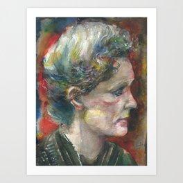MARIE CURIE - watercolor portrait.3 Art Print