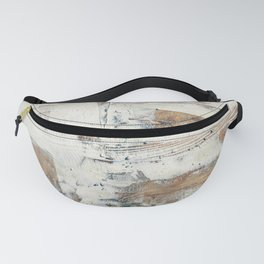 Wood planks epoxy resin repairing shipboard texture Fanny Pack