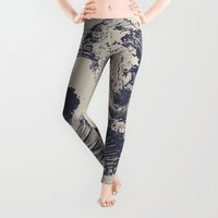 waves Leggings featuring Swell by Huebucket