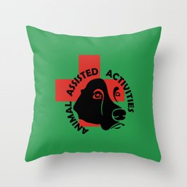 Animal Assisted Activities  - THERAPY DOG logo 7 Throw Pillow