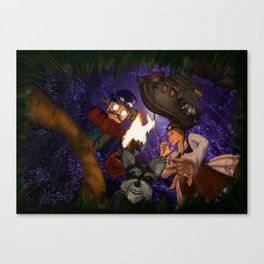 The Unearthing Canvas Print
