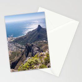 Panoramic view of Camps Bay from Table Mountain in Cape Town, South Africa Stationery Cards