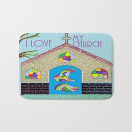 ASL I Love my Church Bath Mat