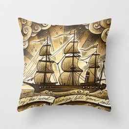 Sailing Winds Throw Pillow